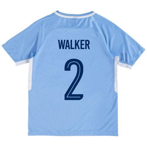 Manchester City Home Stadium Cup Shirt 2017-18 - Kids with Walker 2 printing