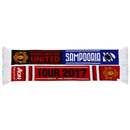 Manchester United Match Up Scarf - Red/Royal - Adult