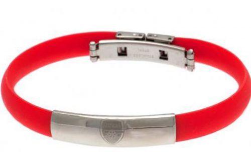 Arsenal Crest Rubber Band Bracelet - Stainless Steel