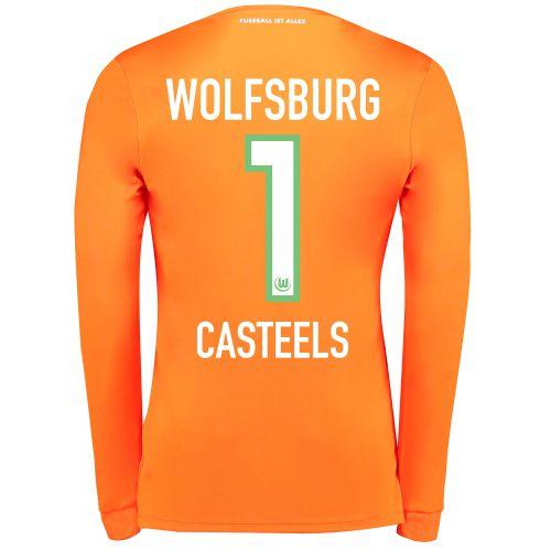 VfL Wolfsburg Goalkeeper Shirt 2017-18 - Kids with Casteels 1 printing