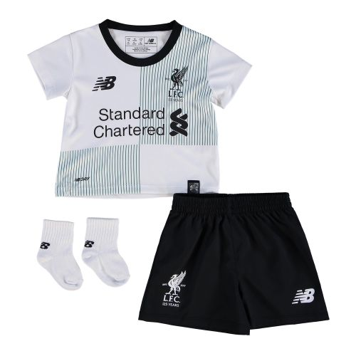 Liverpool Away Baby Kit 2017-18 with Gomez 12 printing