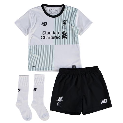 Liverpool Away Infant Kit 2017-18 with Chamberlain 21 printing