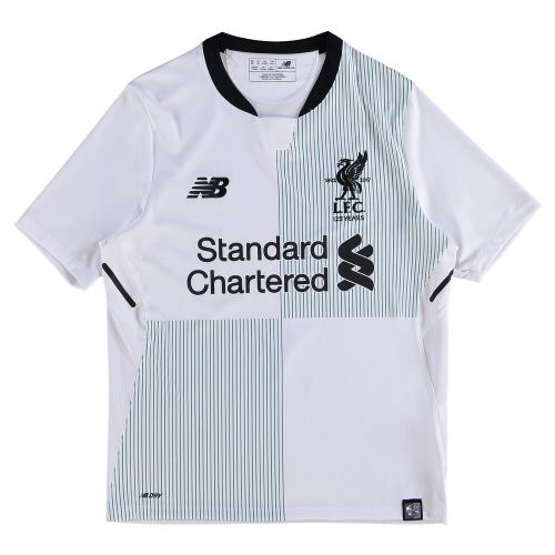 Liverpool Away Shirt 2017-18 - Kids with Virgil 4 printing