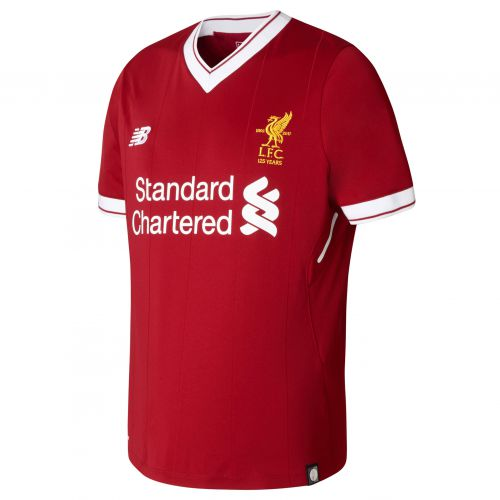 Liverpool Home Shirt 2017-18 - Kids with Virgil 4 printing