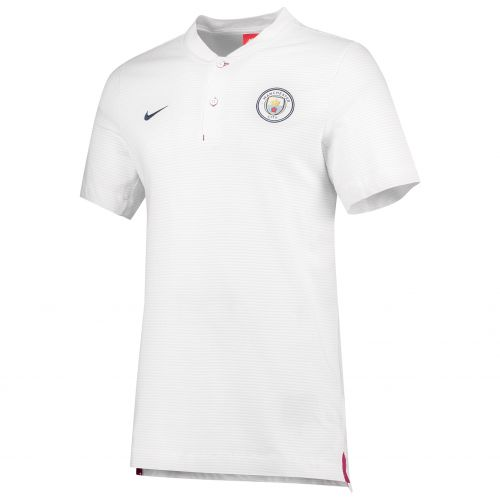 Manchester City Authentic Grand Slam Polo - White