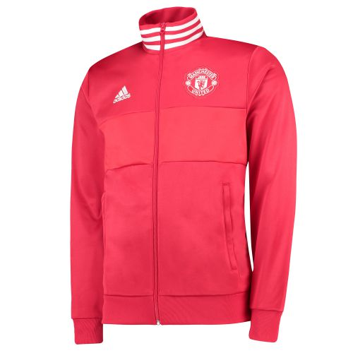 Manchester United 3 Stripe Track Top - Red
