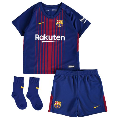 Barcelona Home Stadium Kit 2017/18 - Infants with André Gomes 21 printing