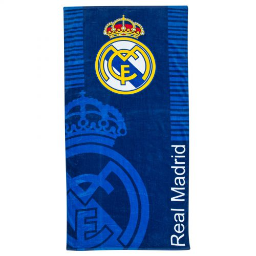 Real Madrid Crest Towel - Marine - 75cm x 150cm
