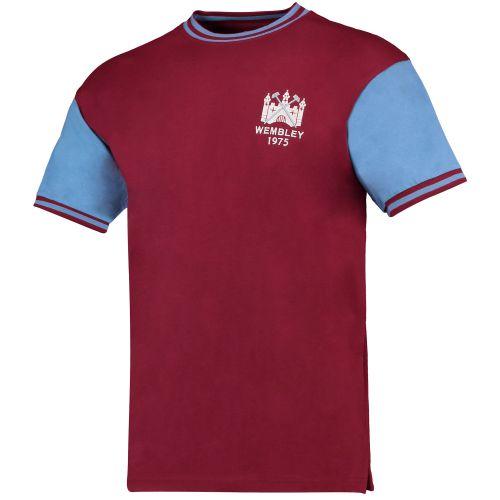 West Ham Utd 1975 FA Cup Final No.4 Shirt - Claret/Blue
