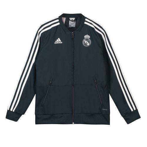 Real Madrid Training Woven Presentation Jacket - Dark Grey - Kids