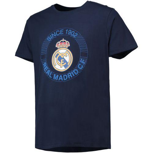 Real Madrid Since 1902 Printed T-Shirt - Navy - Mens