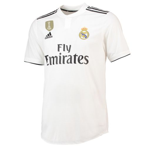 Real Madrid Home Authentic Shirt 2018-19 with Odriozola 19 printing