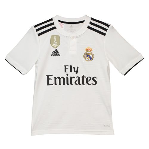 Real Madrid Home Shirt 2018-19 - Kids with Odriozola 19 printing