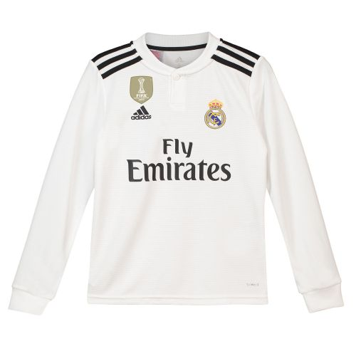 Real Madrid Home Shirt 2018-19 - Long Sleeve - Kids with Odriozola 19 printing