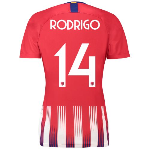 Atlético de Madrid Home Cup Stadium Shirt 2018-19 - Womens with Rodrigo 14 printing