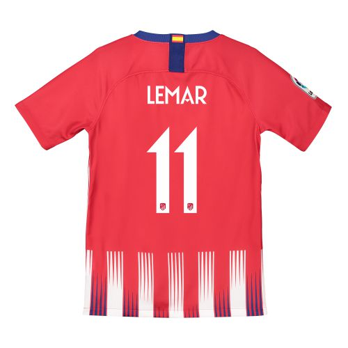 Atlético de Madrid Home Cup Stadium Shirt 2018-19 - Kids with Lemar 11 printing