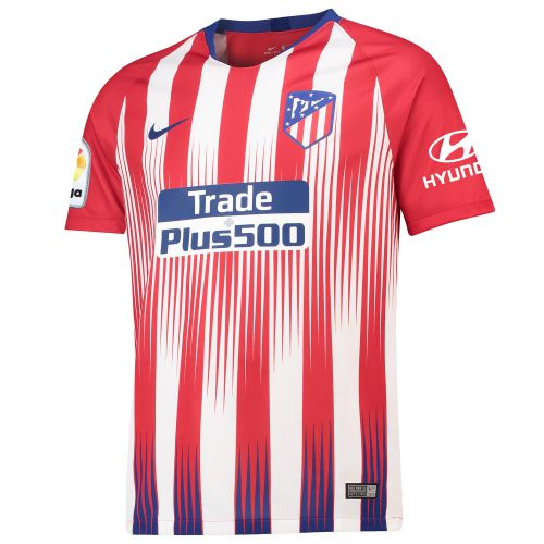 Atlético de Madrid Home Stadium Shirt 2018-19 with Lemar 11 printing
