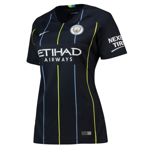 Manchester City Away Stadium Shirt 2018-19 - Womens with Mendy 22 printing
