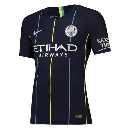 Manchester City Away Vapor Match Shirt 2018-19 with Delph 18 printing