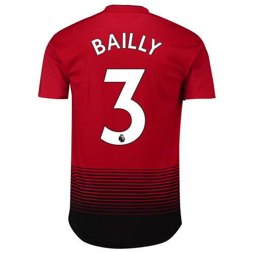 Manchester United Home Adi Zero Shirt 2018-19 with Bailly 3 printing