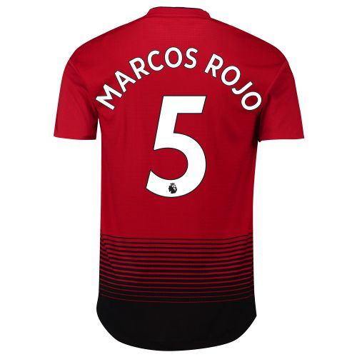 Manchester United Home Adi Zero Shirt 2018-19 with Marcos Rojo 5 printing