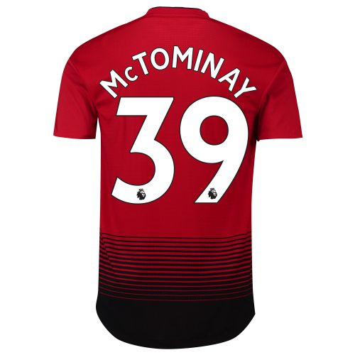Manchester United Home Adi Zero Shirt 2018-19 with McTominay 39 printing