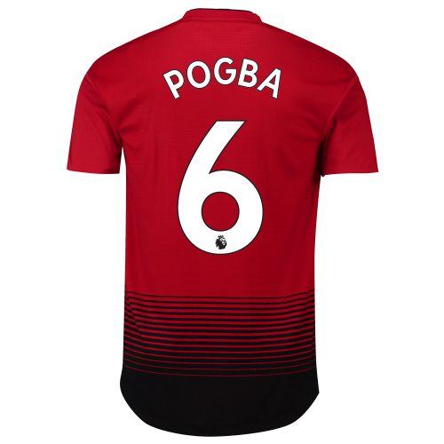 Manchester United Home Adi Zero Shirt 2018-19 with Pogba 6 printing