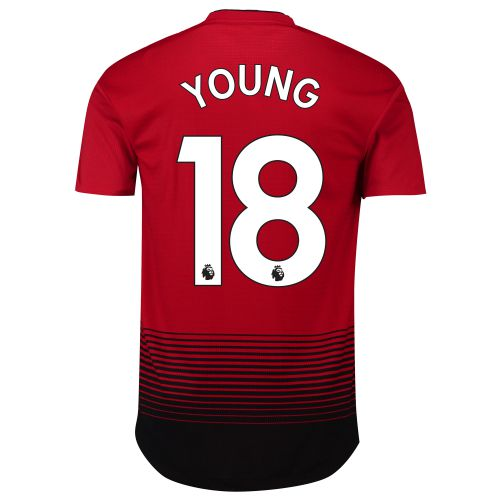 Manchester United Home Adi Zero Shirt 2018-19 with Young 18 printing