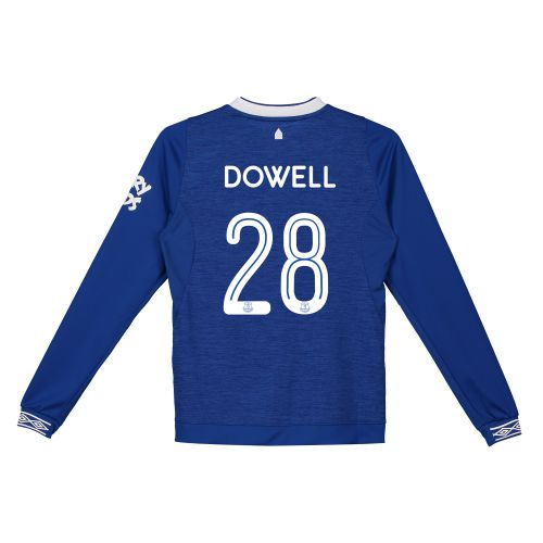 Everton Home Cup Shirt 2018-19 - Kids - Long Sleeve with Dowell 28 printing