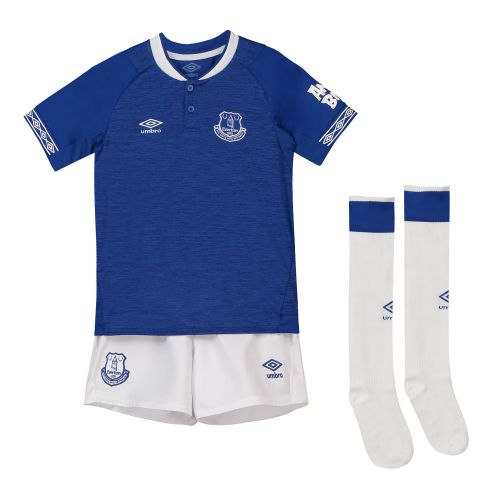 Everton Home Infant Kit 2018-19 with Dowell 28 printing