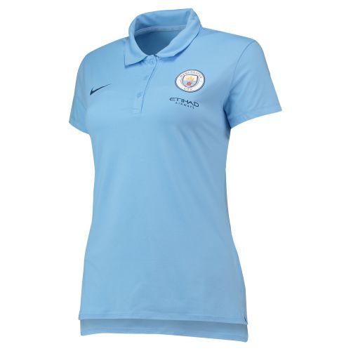 Manchester City Travel Polo - Light Blue - Womens