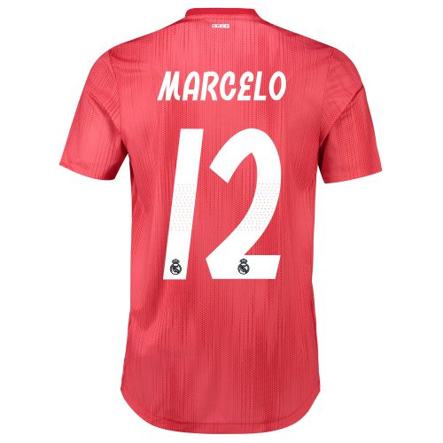 Real Madrid Third Authentic Shirt 2018-19 with Marcelo 12 printing