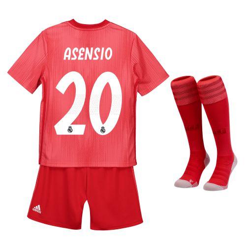 Real Madrid Third Kids Kit 2018-19 with Asensio 20 printing