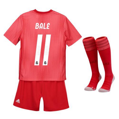 Real Madrid Third Kids Kit 2018-19 with Bale 11 printing