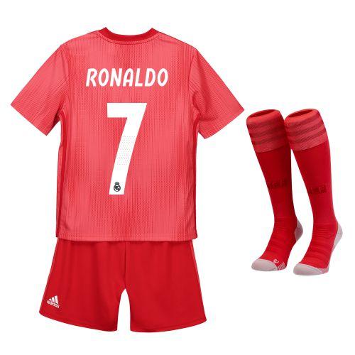 Real Madrid Third Kids Kit 2018-19 with Ronaldo 7 printing