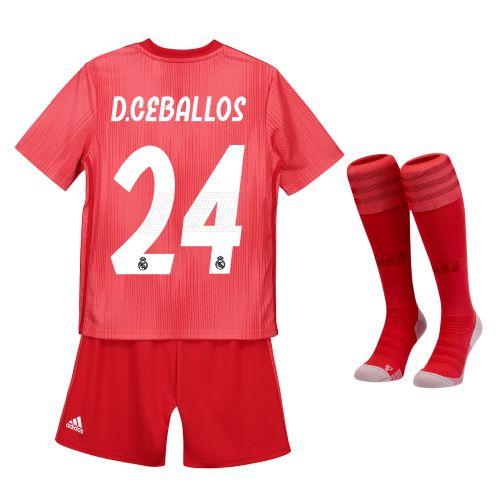 Real Madrid Third Mini Kit 2018-19 with D. Ceballos 24 printing