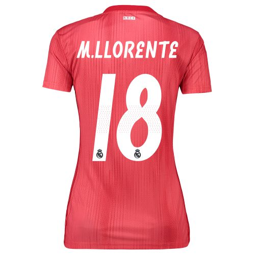 Real Madrid Third Shirt 2018-19 - Womens with M. Llorente 18 printing