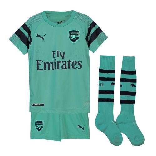 Arsenal Third Mini Kit 2018-19 with Guendouzi 29 printing
