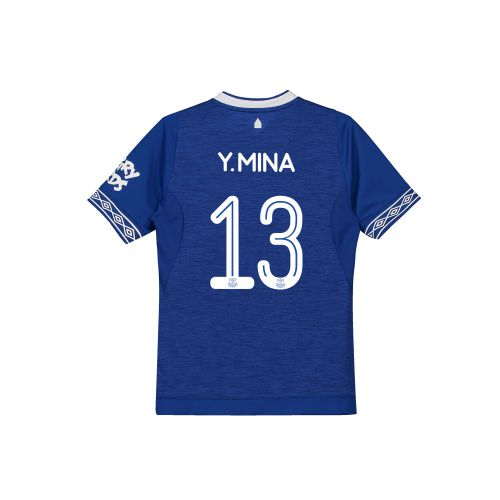 Everton Home Cup Shirt 2018-19 - Kids with Y.Mina 13 printing
