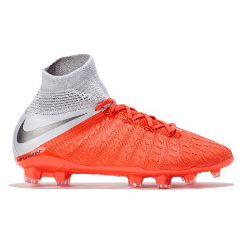 Nike Hypervenom Phantom 3 Elite Dynamic Fit Firm Ground Football Boots - Grey - Kids