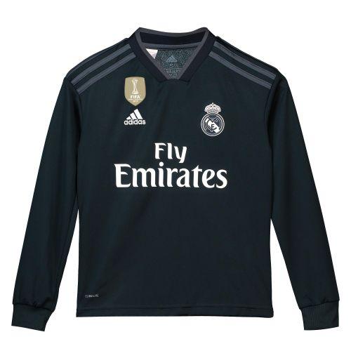 Real Madrid Away Shirt 2018-19 - Long Sleeve - Kids with Sergio Ramos 4 printing