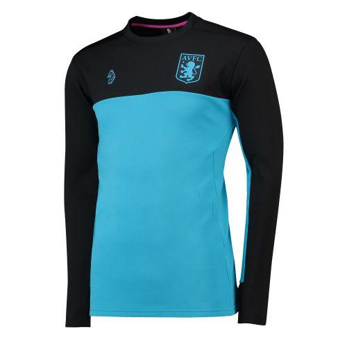 Aston Villa Crew Neck Drill Top - Blue
