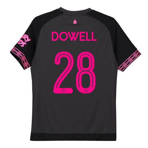 Everton Away Cup Shirt 2018-19 - Kids with Dowell 28 printing