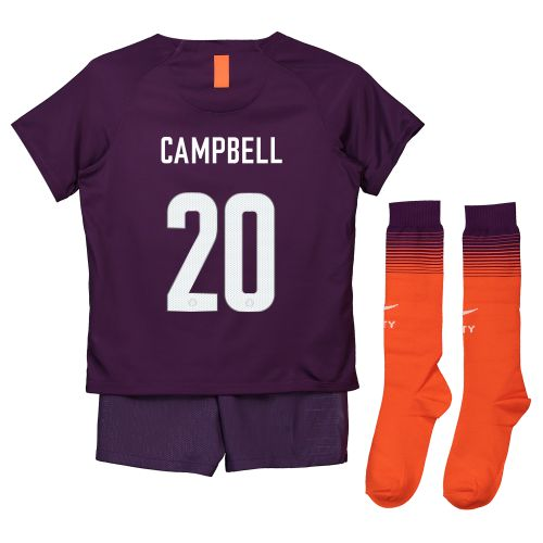 Manchester City Third Cup Stadium Kit 2018-19 - Little Kids with Campbell 20 printing