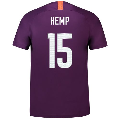 Manchester City Third Cup Stadium Shirt 2018-19 - Kids with Hemp 15 printing
