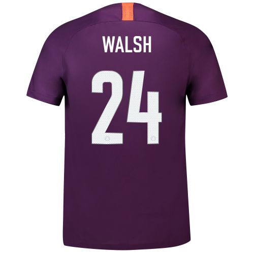 Manchester City Third Cup Stadium Shirt 2018-19 - Kids with Walsh 24 printing