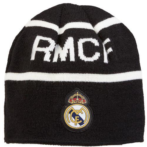 Real Madrid Reversible Knit Hat - Black/White - Mens