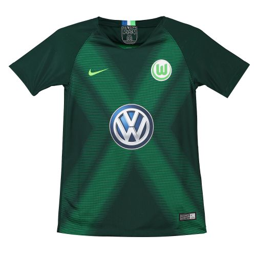 VfL Wolfsburg Home Stadium Shirt 2018-19 - Kids with Roussillion 15 printing