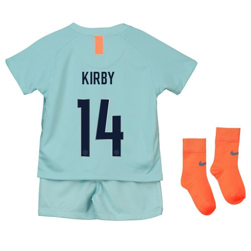 Chelsea Third Cup Stadium Kit 2018-19 - Infants with Kirby 14 printing
