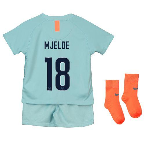 Chelsea Third Cup Stadium Kit 2018-19 - Infants with Mjelde 18 printing